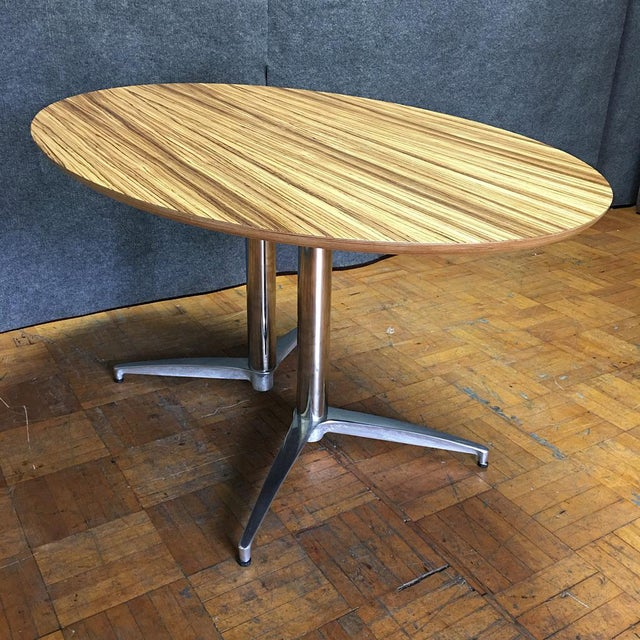 Crate & Barrel Modern Round Dining Table - Image 10 of 10