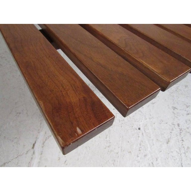 Mid-Century Modern Slat Bench Coffee Table For Sale - Image 10 of 11