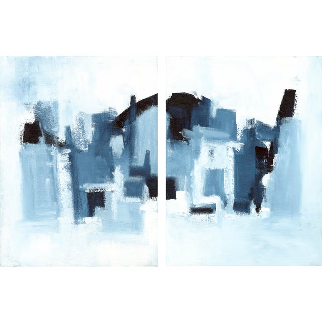 "Ilana Greenberg ""Hidden Landscape Diptych"" Abstract Paintings - a Pair For Sale - Image 4 of 4"