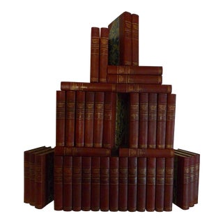 Early 20th Century Decorative Leather Books, G. P. Putnam's Sons Collected Works of Washington Irving - Complete 40 Volume Set For Sale