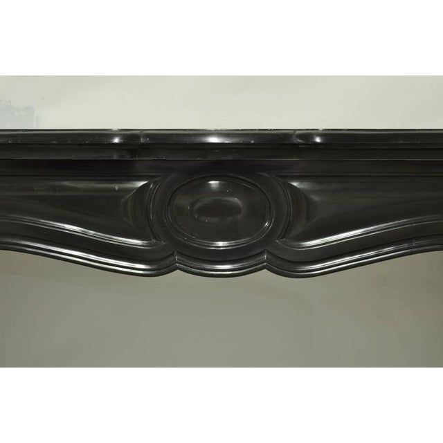 Louis XV Pair of Marble Antique French Pompadour Style Fireplace Mantels For Sale - Image 3 of 9