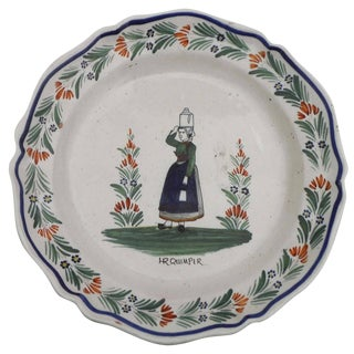 19th Century French Faience Quimper Platter