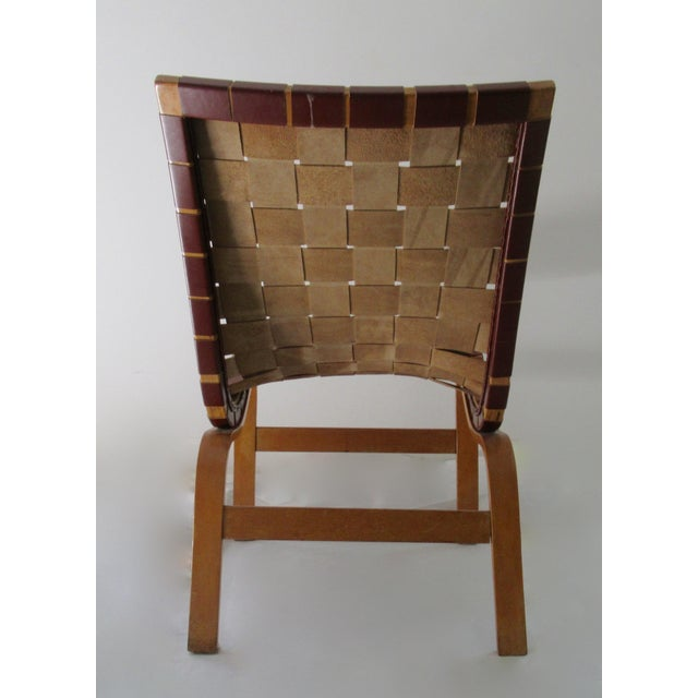 "Animal Skin Final Markdown: 1940-49 Vintage Bruno Mathsson Mid-Century Modern Scandinavian ""Eva"" Easy Chairs - a Pair For Sale - Image 7 of 13"