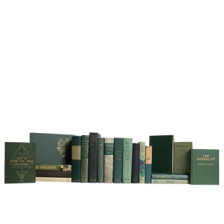 Midcentury Green Book Set: Nature's Greenery, S/20 For Sale