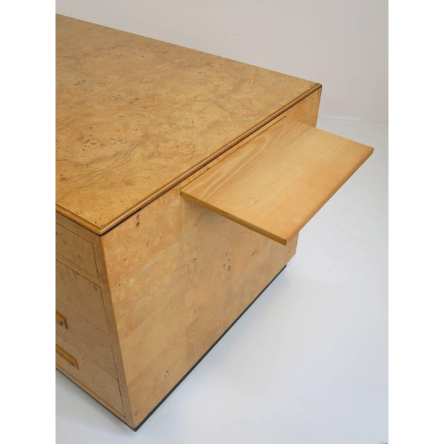 Henredon Scene Two Executive Desk in Burl Wood For Sale In San Diego - Image 6 of 12