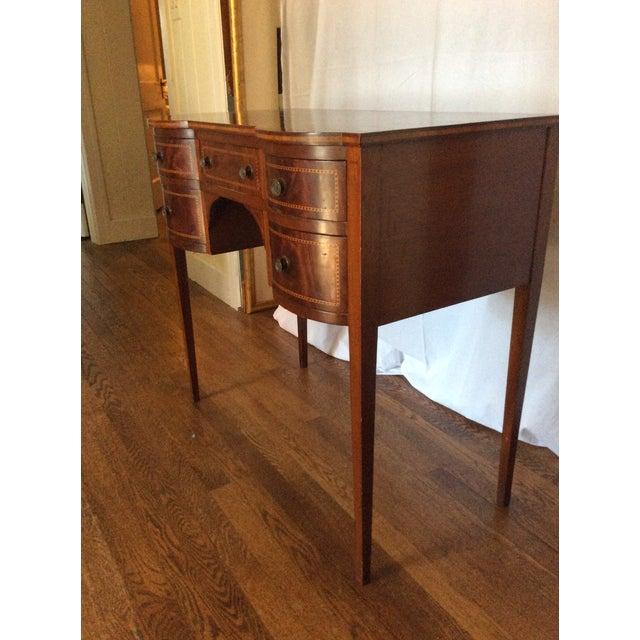 Hepplewhite Mahogany Inlay Desk For Sale - Image 4 of 13