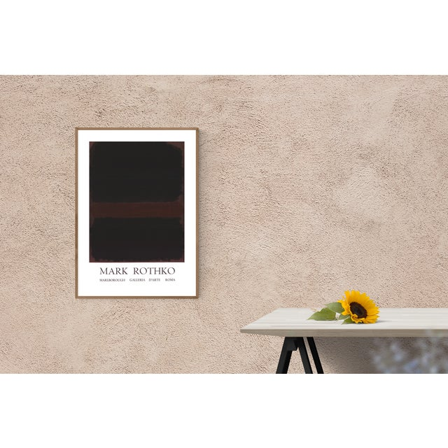 Abstract Expressionism 1970 Mark Rothko 'Marlborough Galleria d'Arte Roma' Abstract Black,Brown Lithograph For Sale - Image 3 of 5