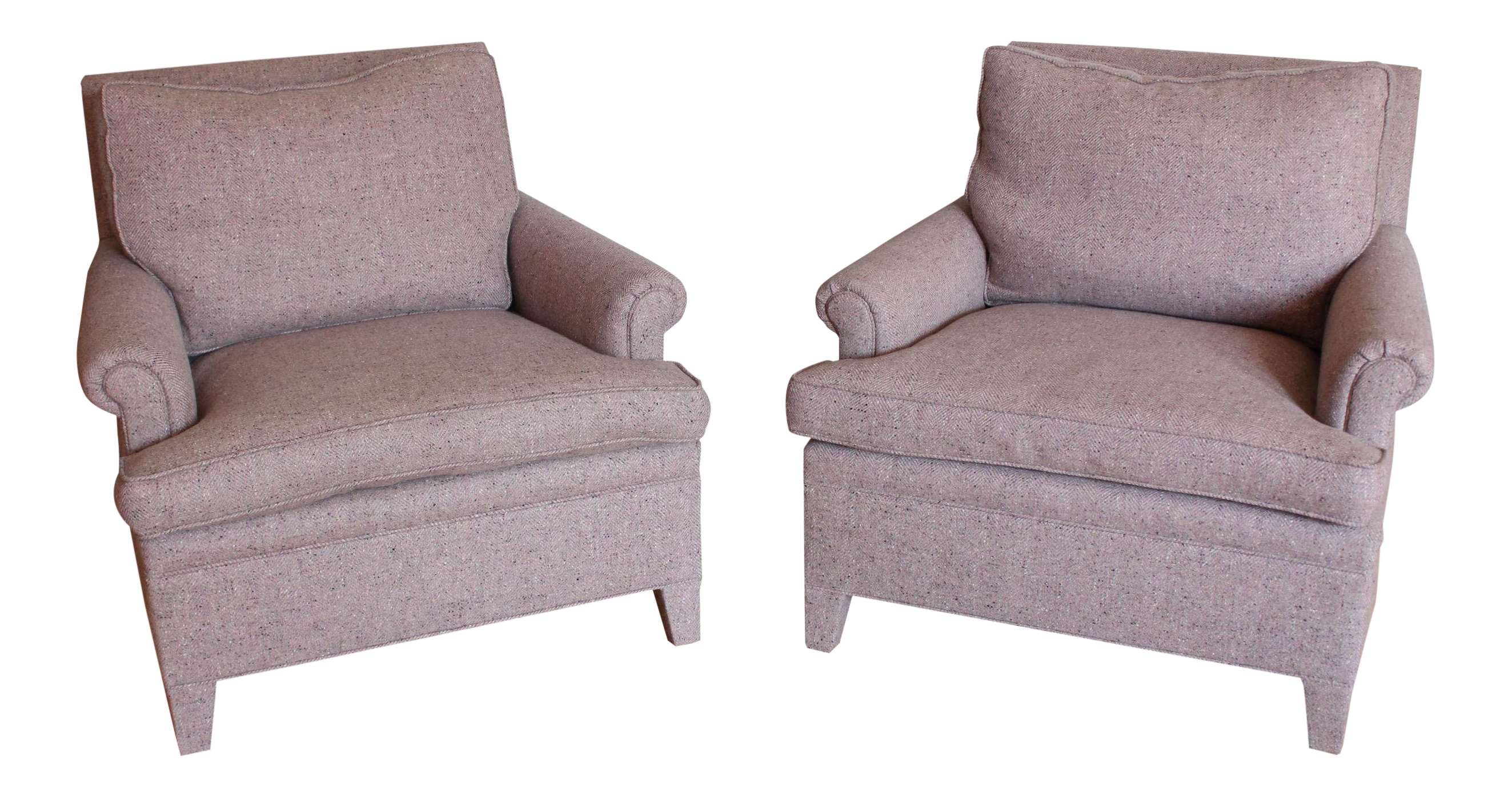 Charmant Custom Made Upholstered Lounge Chairs   A Pair For Sale