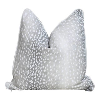 Vern Yip Antelope Print Pillow Cover in Grey For Sale