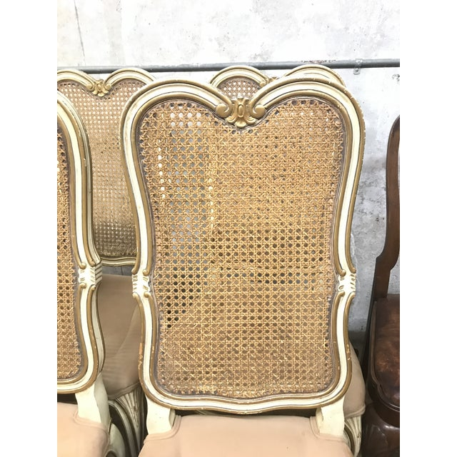French Vintage Mid Century Louis XV French Chairs- Set of 4 For Sale - Image 3 of 5