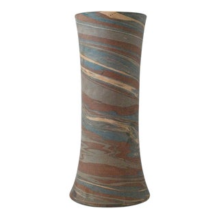 1910 Mission Niloak Gray Pottery Swirl Vase