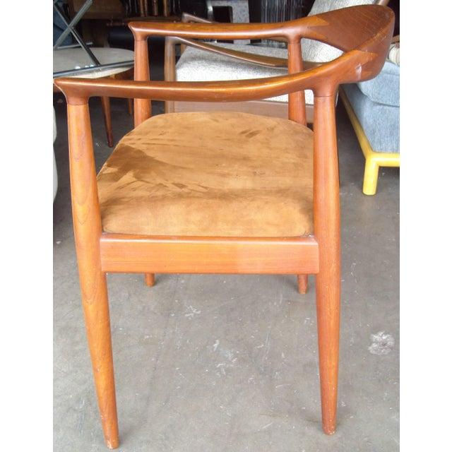 Johannes Hansen Vintage Mid Century Hans Wegner Armchair For Sale - Image 4 of 5