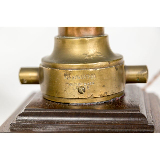 Copper & Brass Victorian Fire Hose Nozzle Lamps (Pair) For Sale - Image 11 of 13