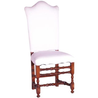 Italian Carved Louis XIII Style Side Chair For Sale