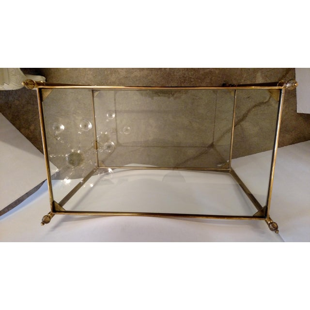 Vintage Brass Bar Cart For Sale In Miami - Image 6 of 9