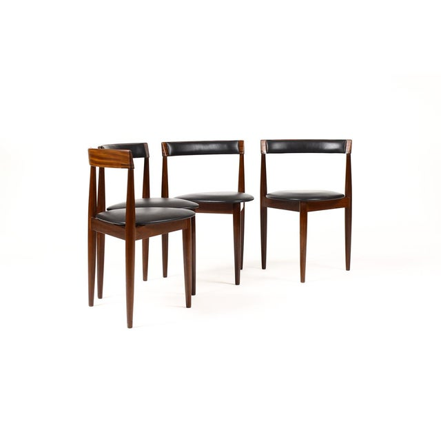 Danish Modern Hans Olsen for Frem Rojle Danish Modern / Mid Century African Teak Dining Chairs - Set of 4 For Sale - Image 3 of 11