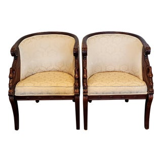 Vintage Swan Club Chairs- A Pair For Sale
