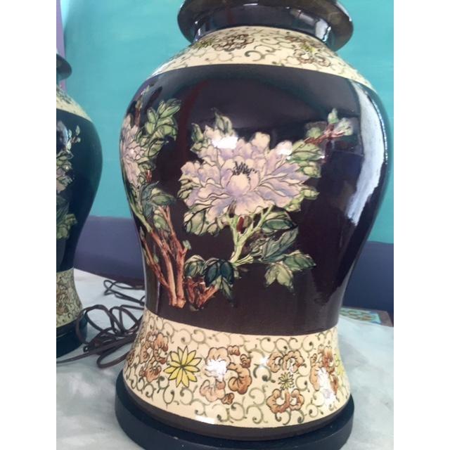 Vintage Ginger Jar Lamps - A Pair - Image 5 of 9