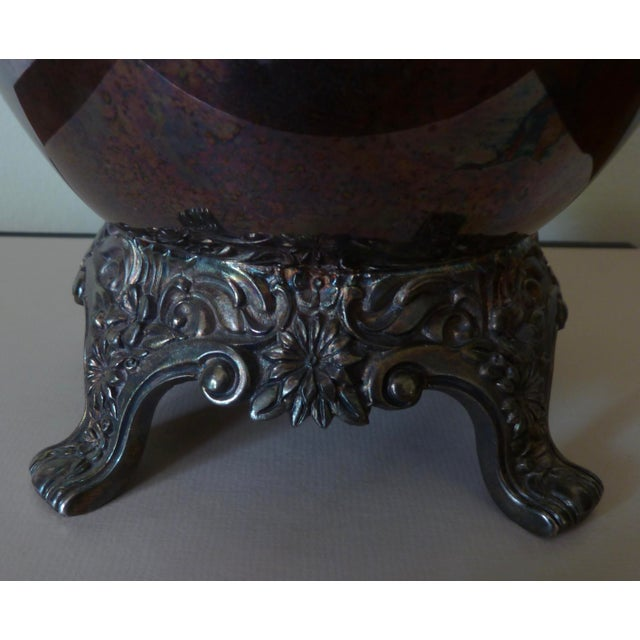 Metal Vintage Silver Plate Champagne Bucket For Sale - Image 7 of 9