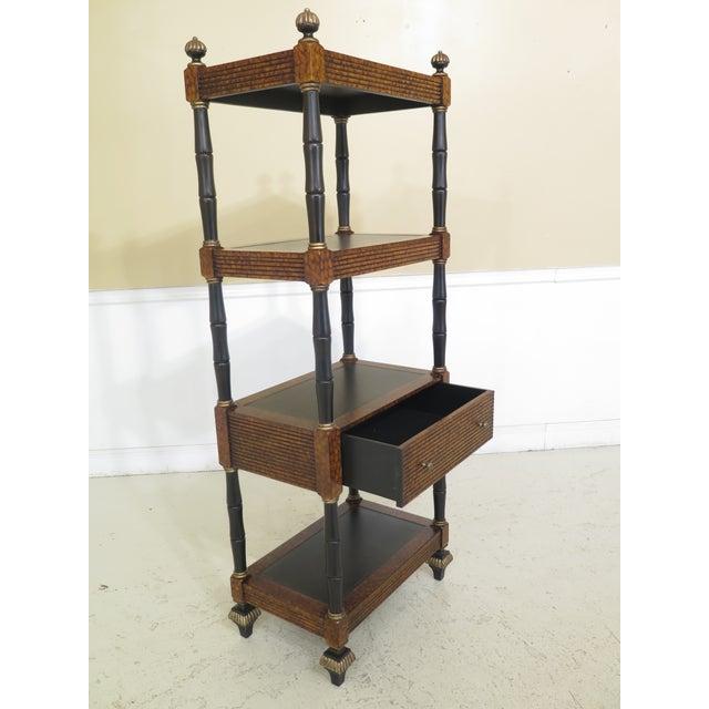 Lillian August Regency Style Leather Top Tiered Bookshelf For Sale In Philadelphia - Image 6 of 10