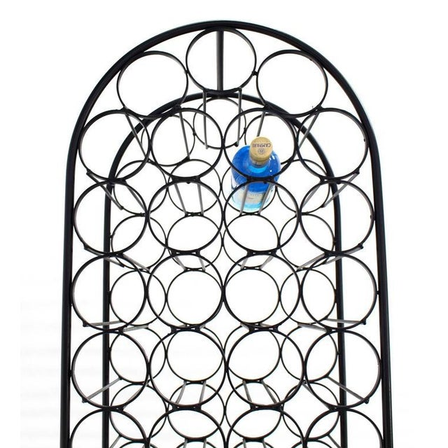 Large Tall Wrought Iron Wine Rack For Sale In New York - Image 6 of 7