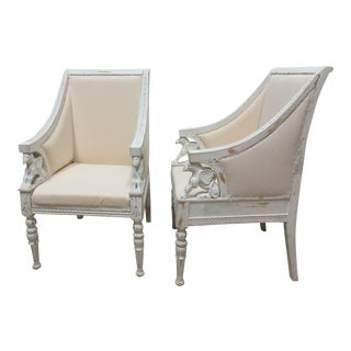 Finish Swedish Empire Chairs - a Pair For Sale