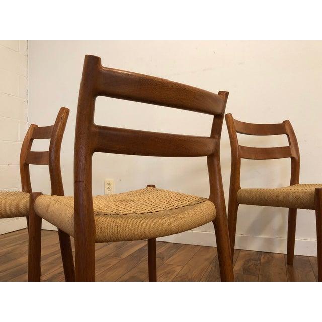 Wood Niels Otto Møller for j.l. Møller Teak Dining Chairs, Model 84 - Set of 4 For Sale - Image 7 of 13