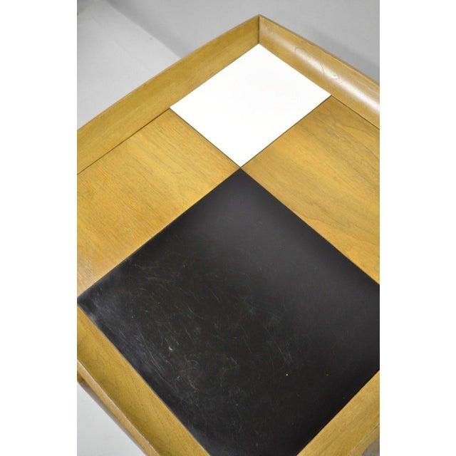 Wood John Keal Brown Saltman Mid-Century Danish Modern Sculptural Walnut Side Table For Sale - Image 7 of 12