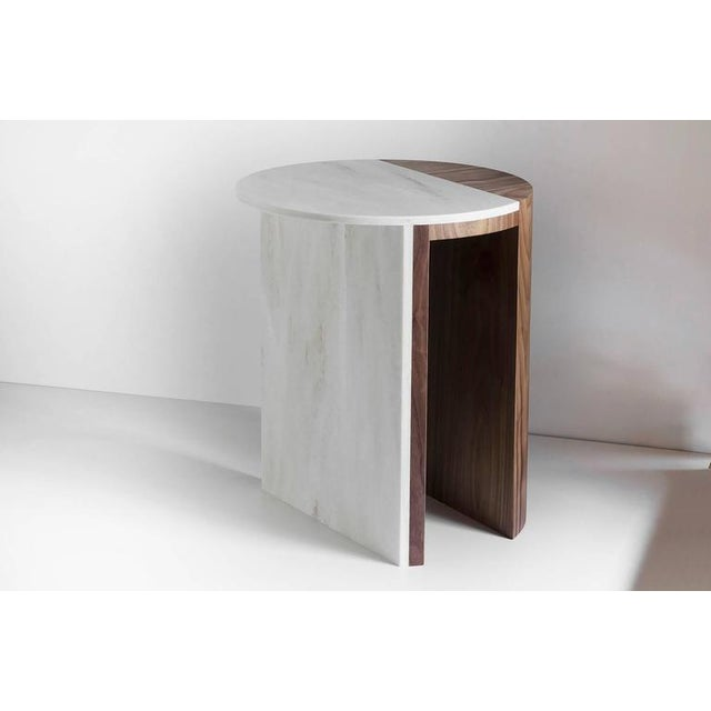 Contemporary Contemporary Gibbous Side Table in Natural Oiled Walnut With Witch Hazel Corian For Sale - Image 3 of 4