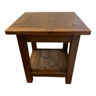 Pine Square Side Table For Sale