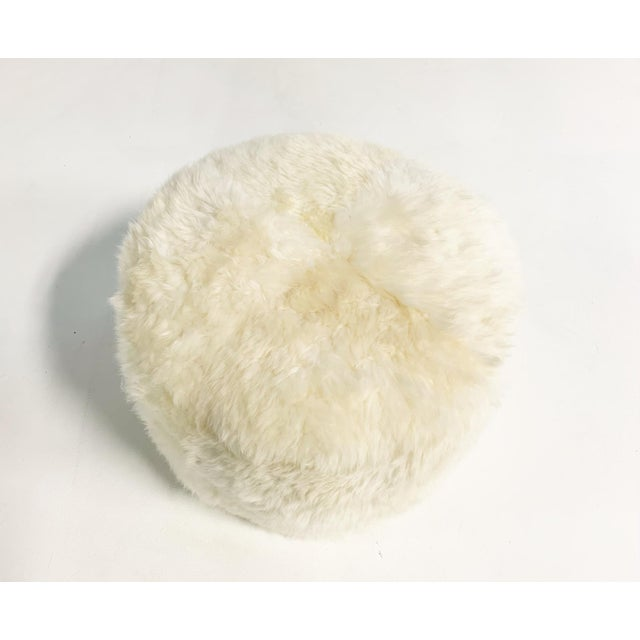 Forsyth Sheepskin Pouf Ottoman For Sale - Image 4 of 5