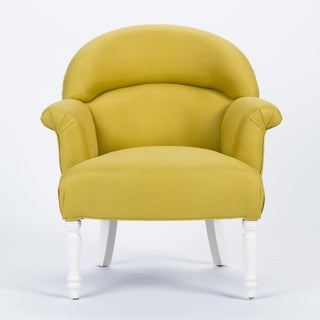 Casa Cosima Napoleon III Chair in Citron Linen Preview