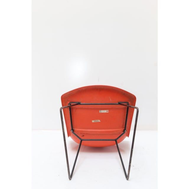 Knoll Bertoia Fiberglass Side Chair Red-Orange For Sale - Image 5 of 11