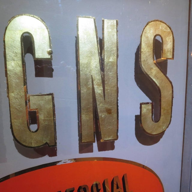 Folk Art Gilded Window From Sign Painters Storefront For Sale In Los Angeles - Image 6 of 9