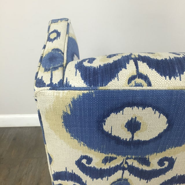 Crate & Barrel Patterned Wingback Chair - Image 10 of 10