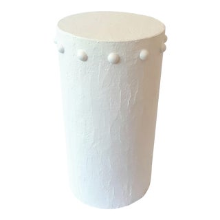 Modern Rotunda White Artisan Accent Table For Sale