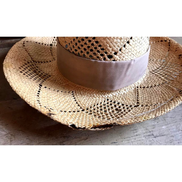1970s Straw Hat and Woven Hat Box, Boho Fashion For Sale - Image 4 of 10
