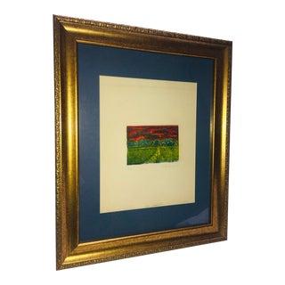 1990s Abstract Hudson Valley Landscape Silkscreen, Framed For Sale