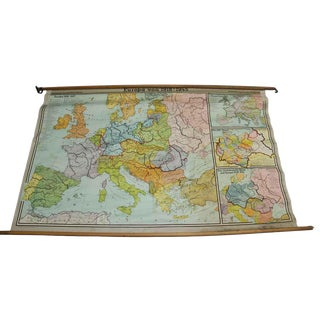 Europa Von Map, 1918-1945 For Sale