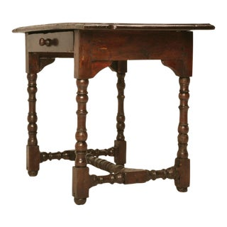 Original Rustic & Primitive Petite French Writing Table w/Drawer For Sale