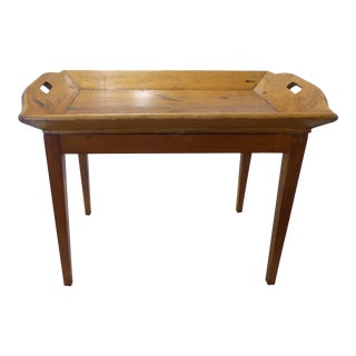 Vintage Pine Rustic Tray Top Coffee Table For Sale
