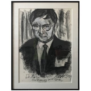 Black and White Modern Portrait of a Gentleman For Sale