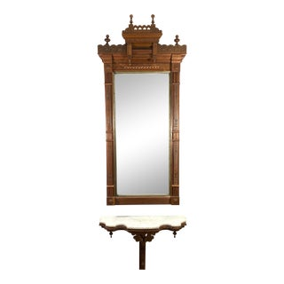 Eastlake Mirror & Console Table - Set of 3 For Sale