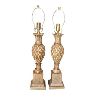Pair of Thomas Morgan Pineapple Form Designer Table Lamps For Sale