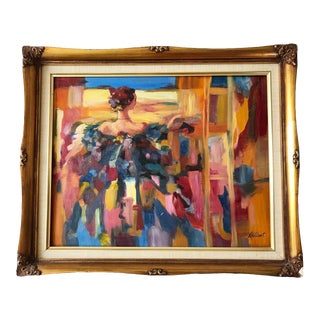 Lynda- Vintage Expressionist Oil Painting For Sale
