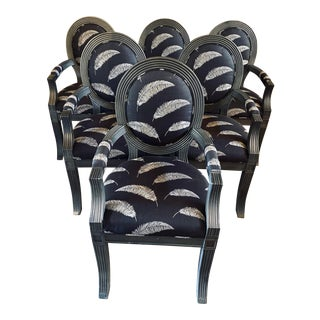 Sally Sirkin Lewis Custom Chairs - Set of 6 For Sale