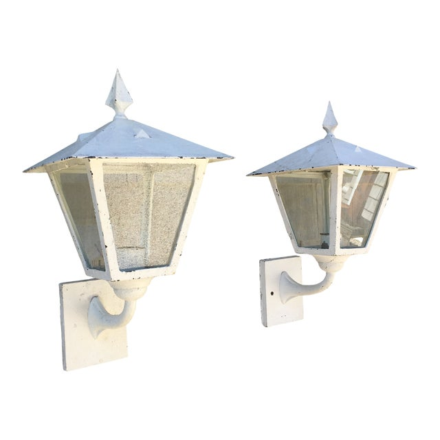 1940s Outdoor Lanterns - a Pair For Sale