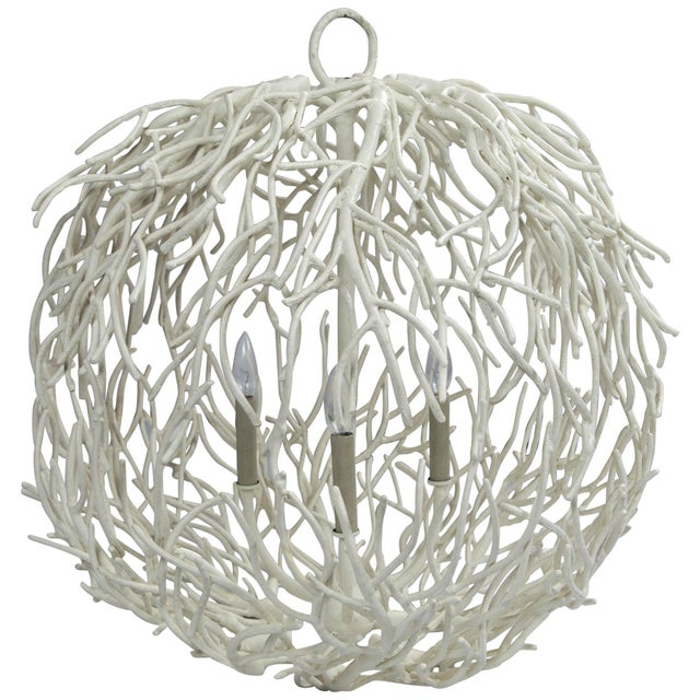 Coral or Twig Globe Pendant Chandelier For Sale - Image 10 of 10