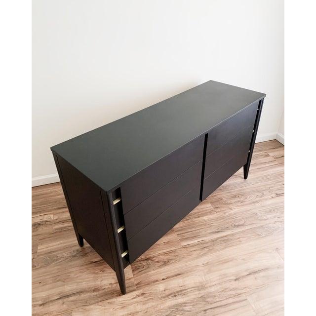 Mid Century Modern Matte Black Dresser For Sale - Image 9 of 10