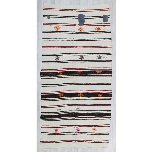 Hemp kilim rug from Yozgat region of Turkey. In good condition. Approximately 45-55 years old.
